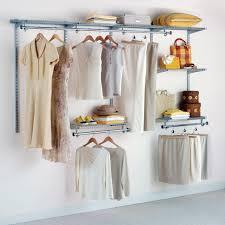 Rubbermaid Fasttrack Closet Rubbermaid Configurable 4 U0027 To 8 U0027 Closet Kit Titanium Walmart Com
