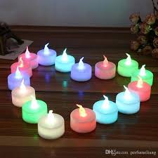 small tea light candles colorful mini led tea lights candle glow electric birthday wedding