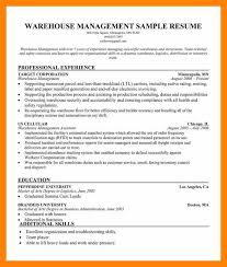 Warehouse Management Resume Sample 8 warehouse manager resume informal letter