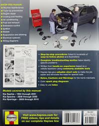 kia sephia automotive repair manual 94 10 haynes automotive