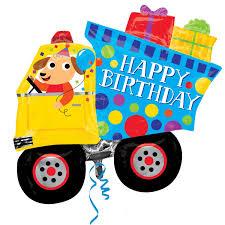 happy birthday dump truck supershape foil balloons 31