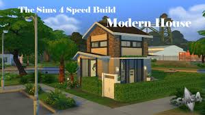 the sims 4 speed build small modern house youtube