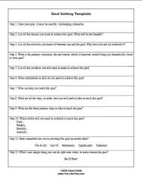goal setting worksheet 28 templates the number one secret to