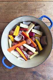 Freezing Root Vegetables - roasted chicken with root vegetables reluctant entertainer