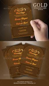 Weddings Cards Gold Wedding Cards By Blogankids Graphicriver