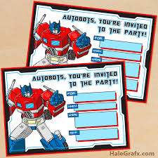 transformer birthday printable g1 transformers birthday invitation