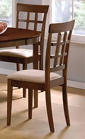 Walnut Finish Dining Room Set Casual Dinette Sets - Walnut dining room chairs