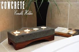 photo holder concrete candle holder how to make diy build