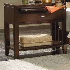 American Drew Nightstand Leg Nightstand With Pullout Tray By American Drew Wolf And