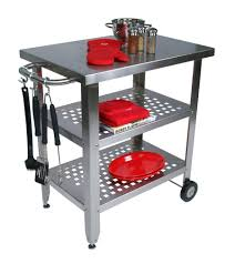 kitchen islands with stainless steel tops steel top cucina avanti stainless steel kitchen barbecue cart at