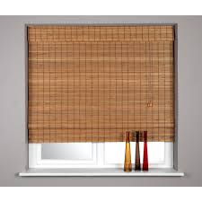 brown bamboo insulated roman blinds as window ideas for bamboo