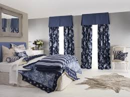 bedroom lined curtains with bay window curtain rod also voile