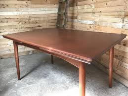 Retractable Dining Table by Extendable Teak Dining Table From Omann Jun 1950s For Sale At Pamono