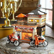 department 56 original snow harley davidson collection