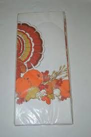 vintage hallmark thanksgiving paper turkey tablecloth cups