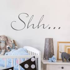 shh u2026 u0027 wall sticker by nutmeg notonthehighstreet com