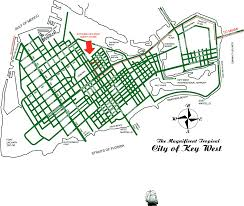 Key West On Map Map Of Key West And Location Map Of Authors Guesthouse Of Key West