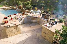 backyard kitchen design chic and trendy backyard designs with pool and outdoor kitchen