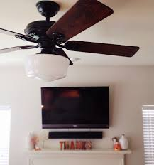Ceiling Fan With Schoolhouse Light Relationship A Ceiling Fan Story Grace And