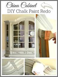 how to make chalk paint for cabinets china cabinet chalk paint makeover lyn at home