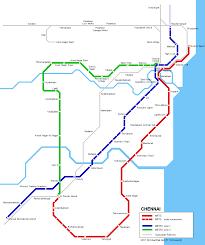 Metro Route Map by Urbanrail Net U003e Asia U003e India U003e Tamil Nadu U003e Chennai Madras