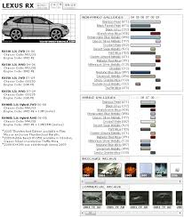 lexus paint colors lexus rx 2nd color chart and brochures archive clublexus