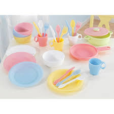 kidkraft 27 piece pastel kitchen playset 63027 hayneedle