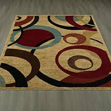 Area Rugs With Circles Amazon Com Royal Collection Beige Contemporary Abstract Circle