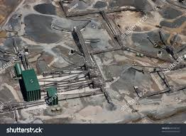 aerial view large working gravel quarry stock photo 69744742