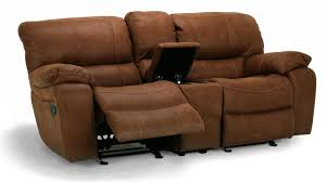 Reclining Sofa With Center Console Flexsteel Furniture Latitudes Grandview Collection Featuring