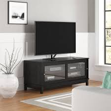 media console with glass doors mainstays 55