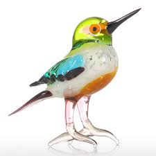 best and cheap multicolored tooarts tiny bird gift glass ornament