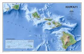 Hawaii State Map by National Geographic Maps Hawaii State Wall Map Wayfair