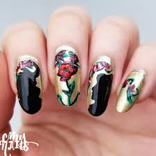 beauty and the beast silhouettes nail art u2013 cmy nails
