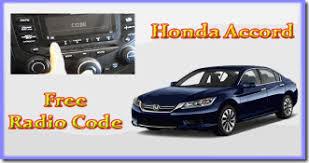 how to retrieve radio code for honda accord honda radio code honda accord radio code