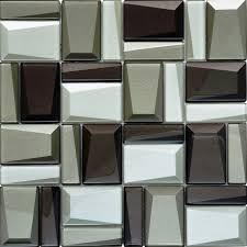 glass mosaic tile kitchen backsplash beveled glass facets mosaic asscher mosaics