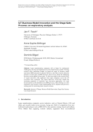 internet of things business model innovation and the stage gate