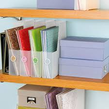 low cost scrapbooking storage solutions