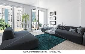 floor to ceiling glass doors large modern luxury condo living room stock illustration 548513773