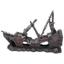 fish tank shipwreck ornament allpondsolutions