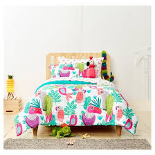 Girls Hawaiian Bedding by Parakeet Paradise Comforter Set Pillowfort Target