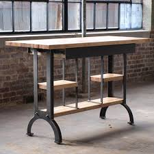kitchen island base cos iron works modern industrial desks standup throughout metal