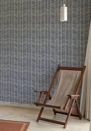 Herringbone Line Wallpaper Beige Peel by Herringbone Pinpina