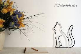 cat home decor cat decoration modern art for cat lover cat silhouette