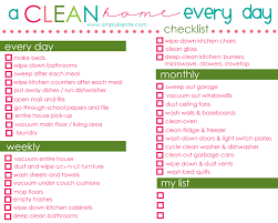 House Cleaning List Template A Clean Home Cleaning Om And Organizing