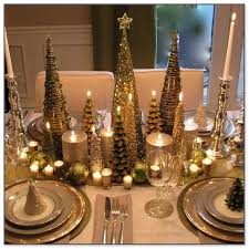 and gold table decorations