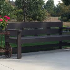 Simple Wooden Park Bench Plans by Ana White Modern Park Bench Diy Projects