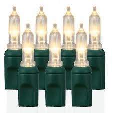 50 light t5 smooth warm white led christmas lights