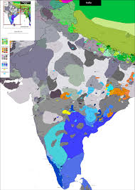 Map Of India by Linguistic Map Of India 2300 X 3223 Mapporn