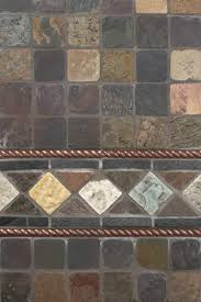 Rusty Brown Slate Mosaic Backsplash by Mixed Slate And Copper Metal Backsplash By Msi Stone Stunning